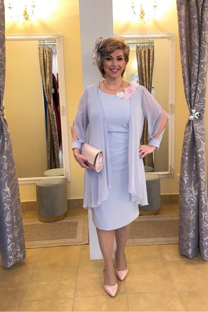 Sivo-fialkový spoločenský kostým Svadobná mama