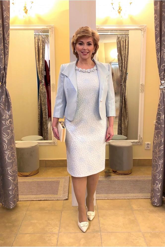 Exkluzívny spoločenský kostým svadobná mama BLUE