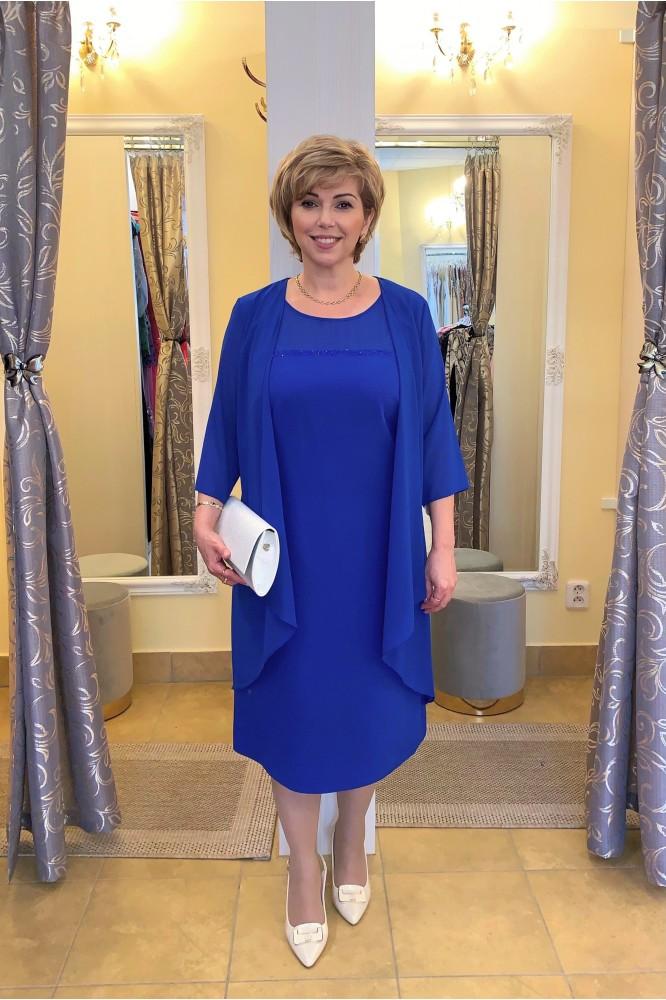 Spoločenský kostým pre svadobnú mamu blue