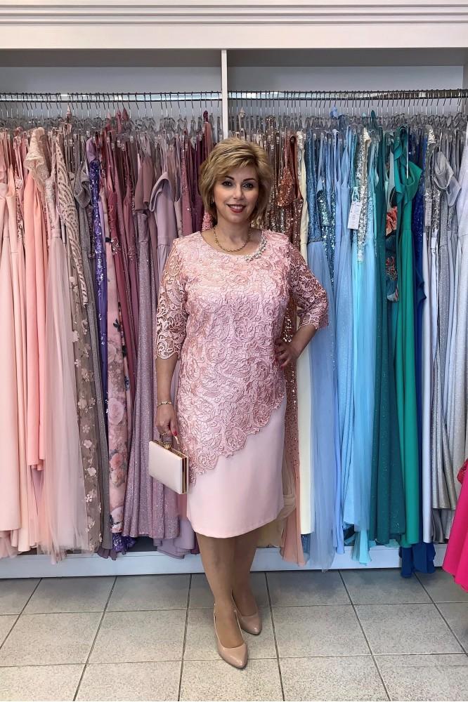 Ružové krátke spoločenské šaty svadobná mama